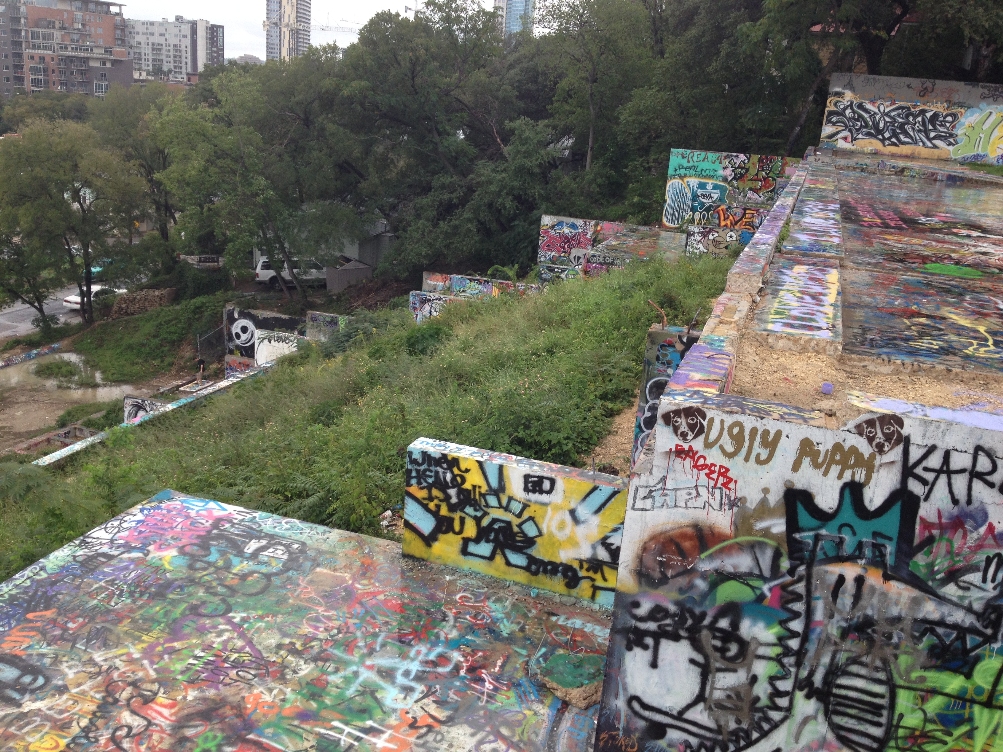 Graffiti wall austin - I Finally Hiked Up The Other Day Under The Excuse Of Showing Our Guest Derek But I Realized I Should Be Up Here Chilling All The Time