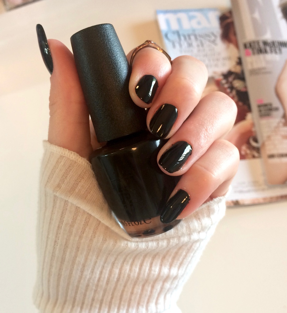Classy Black Nails