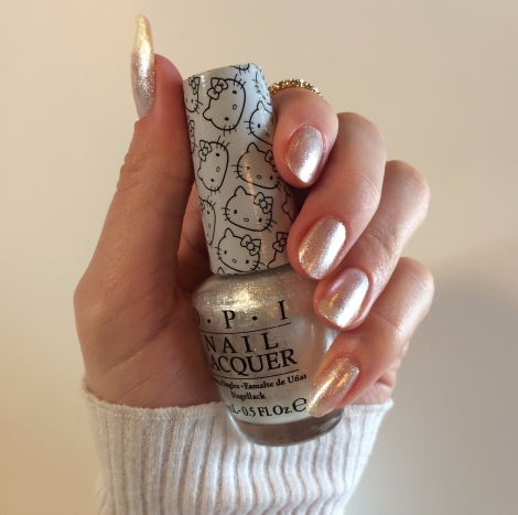 hello kitty opi kitty white