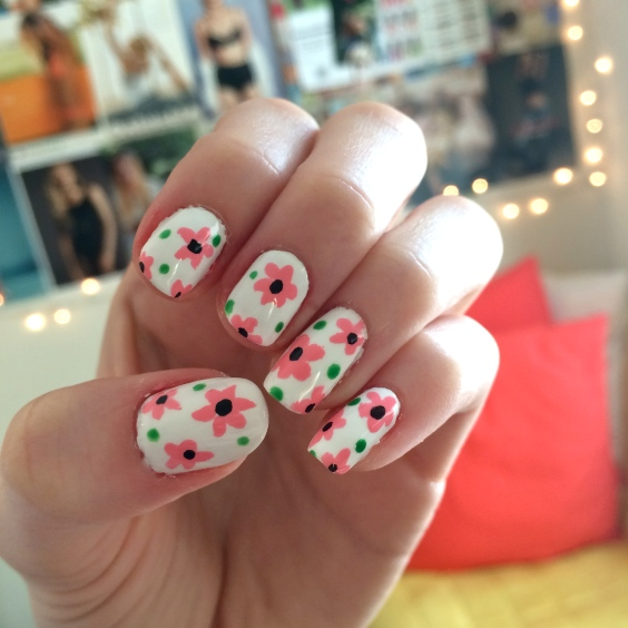 easy flower nail art