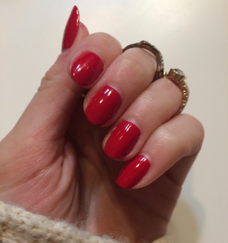 orly haute red nails