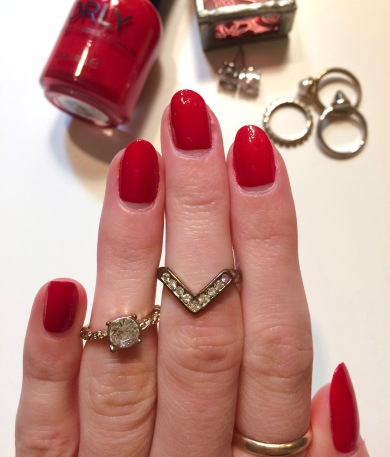 haute red orly review swatch