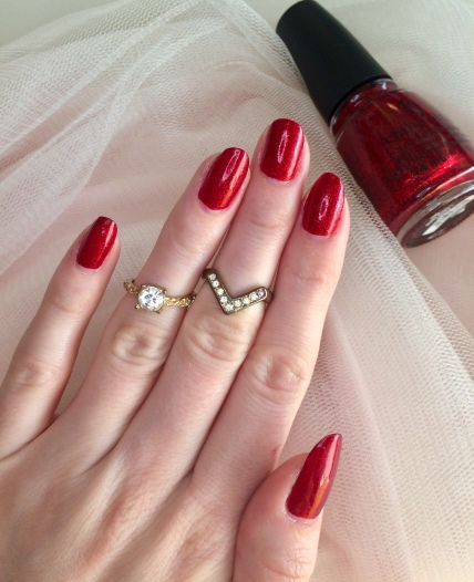 china glaze classic nail polish ruby pumps